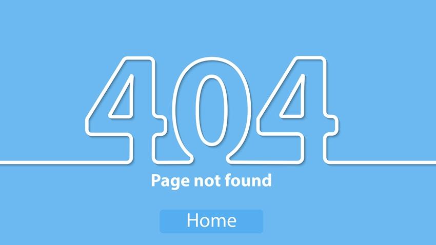 Lỗi thu thập thông tin 404 error