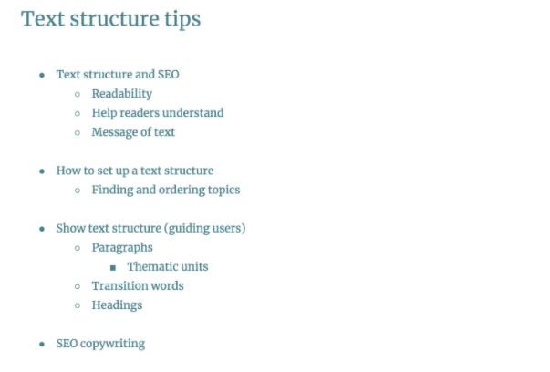 Xây dựng cấu trúc bài viết