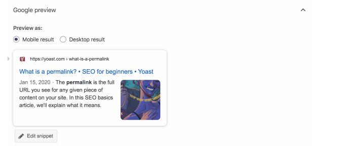 Cách sử dụng google preview/snippet review