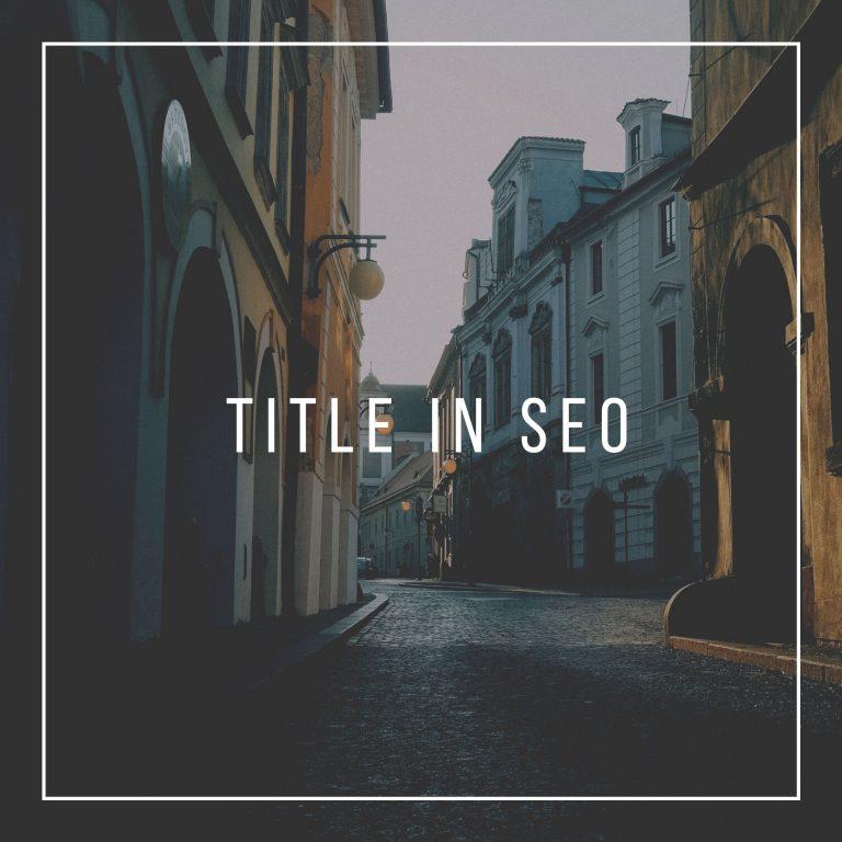 Title trong SEO