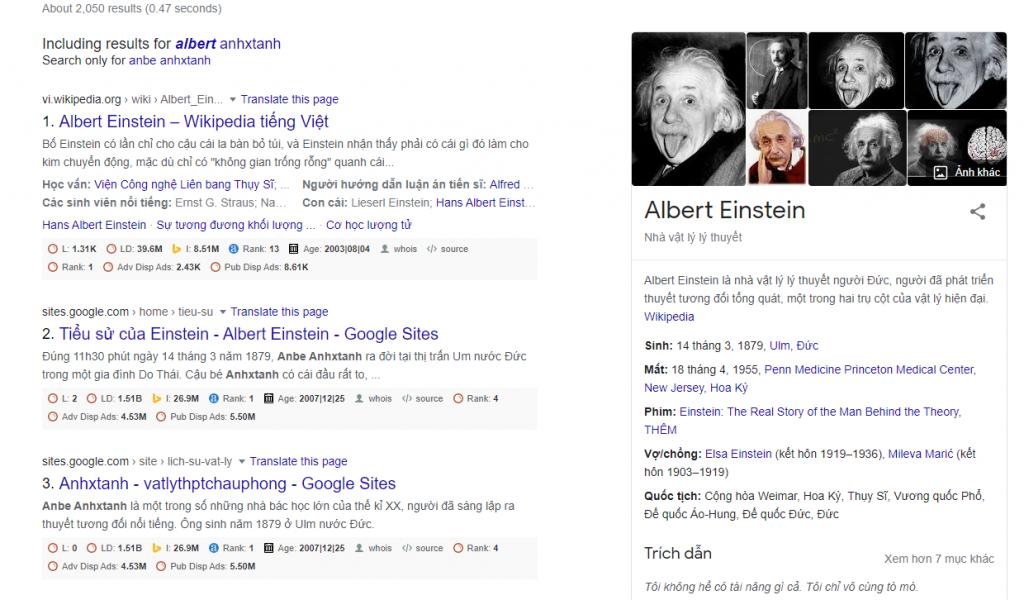 Google's Knowledge Panel