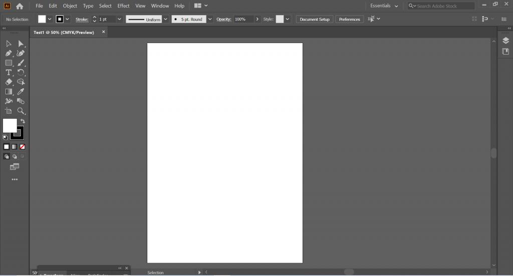 Giới thiệu về giao diện Adobe Illustrator