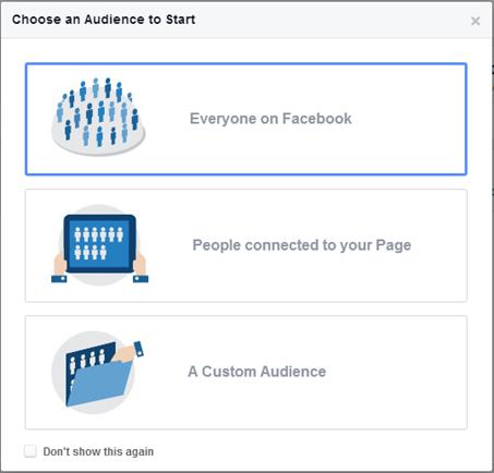 Trang tùy chọn Facebook Audience Insight
