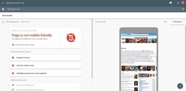 Kiểm tra website thân thiện với mobile