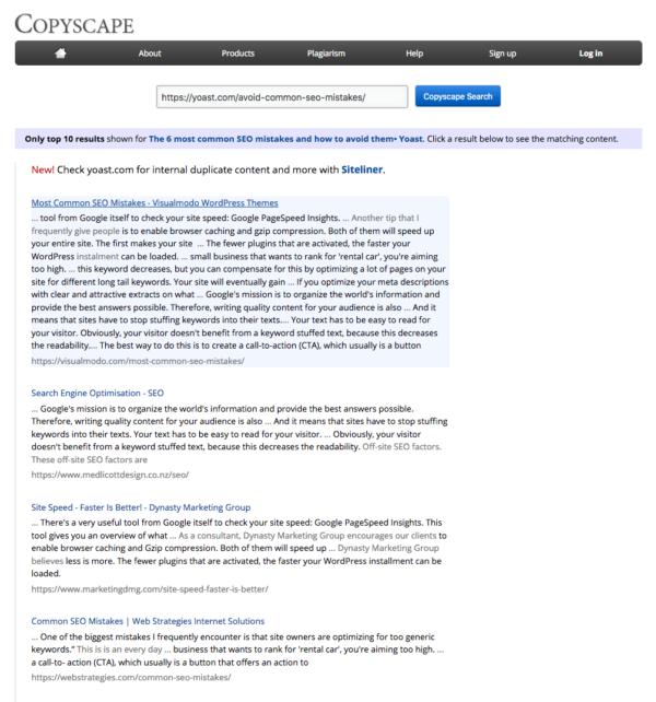 Kiểm tra trùng lặp nội dung (duplication content)