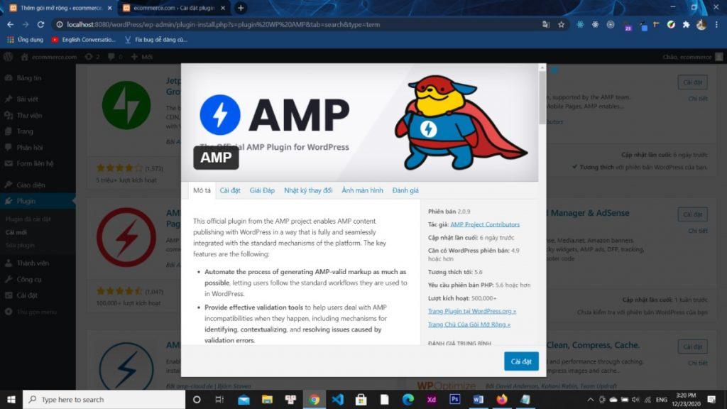 Share plugin WP AMP (Hỗ trợ AMP Google)