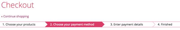 UX của checkout page
