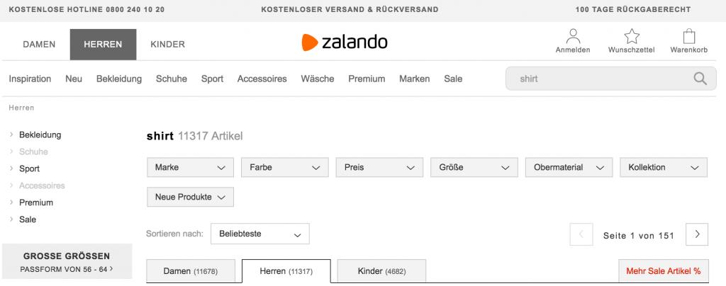 Tìm kiếm nội bộ cho shop online