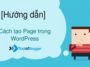 Hướng dẫn tạo Page trên wordpress