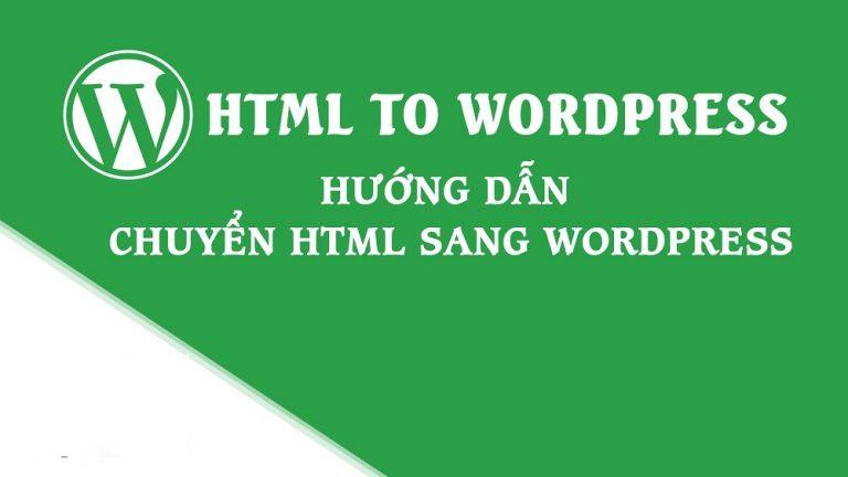 Cách chèn code html vào wordpress