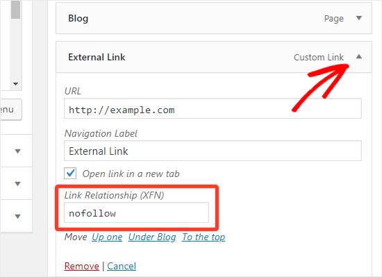 Cách thêm Nofollow Links trong wordpress