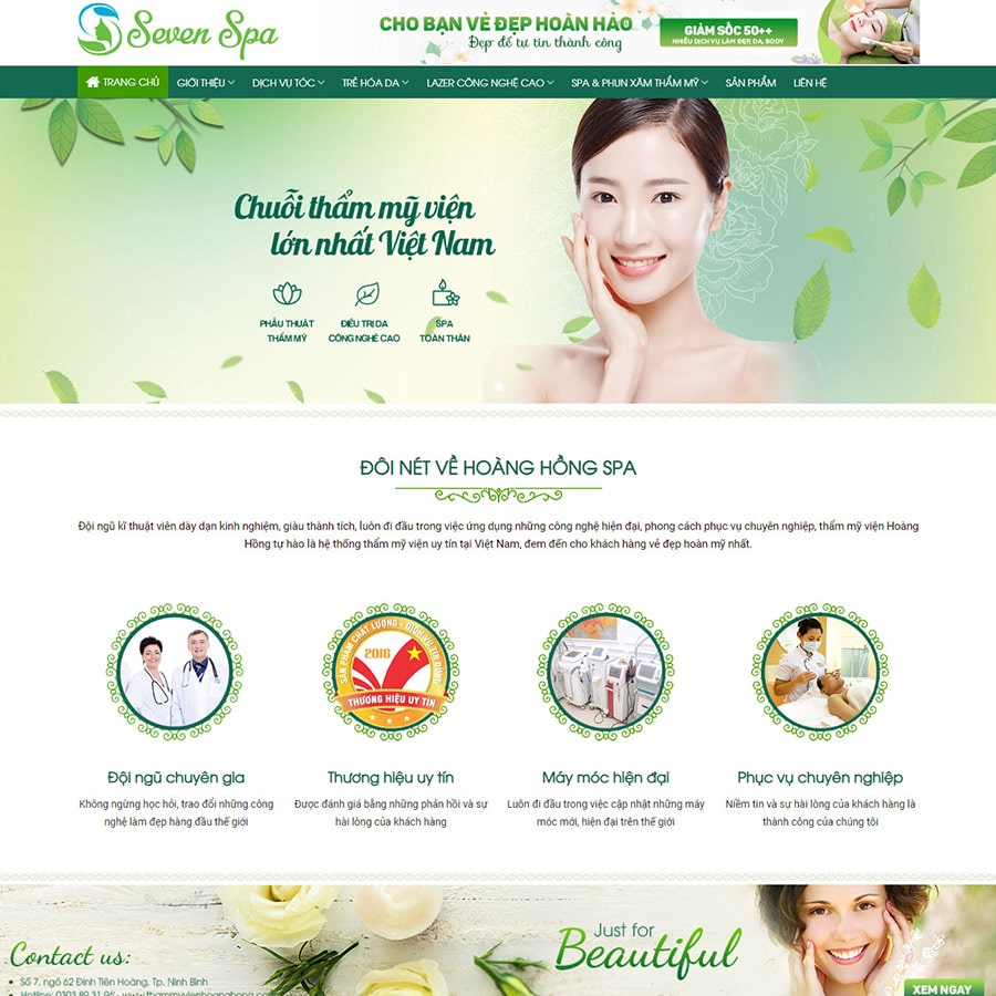 Mẫu thiết kế website đẹp và hiện đại