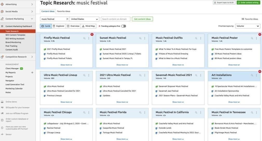 Cách tạo nội dung từ kết quả tìm kiếm