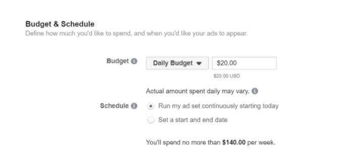 Giá cả của quảng cáo FaceBook ?