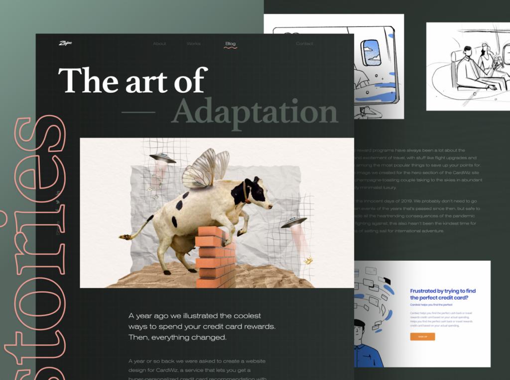 Xu hướng thiết kế trang web hiện đại