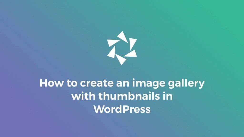 Hướng dẫn tạo và chèn gallery ảnh đơn giản