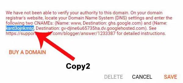 Sử dụng tên miền riêng cho blogger
