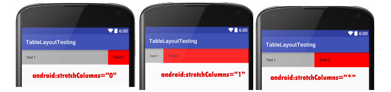 Hướng dẫn Table Layout trong android
