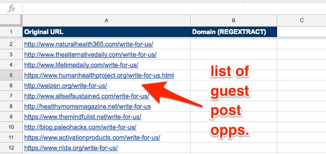 Các công thức Google Sheets dành tặng cho SEO