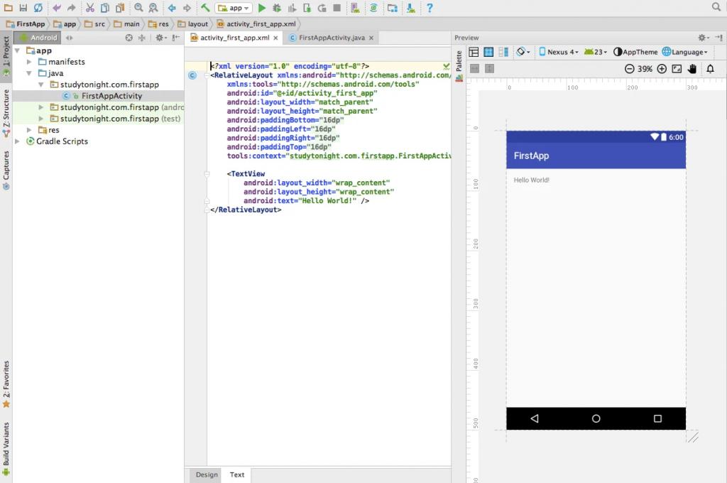 Cách viết App android studio đầu tiên.