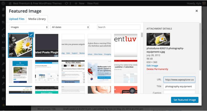 Cách thêm hình ảnh nổi bật trong wordpress