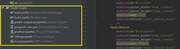 Android Project cấu trúc thư mục( Folder)