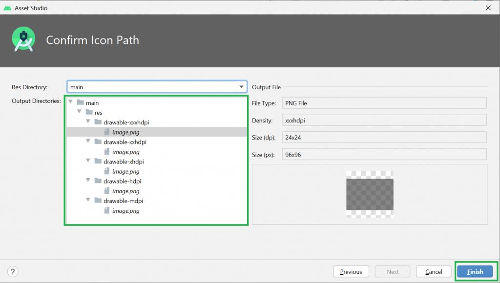 Cách thêm image vào Drawable Folder Android studio
