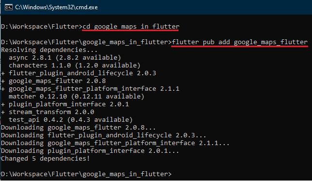 Thêm Google Maps vào ứng dụng Flutter