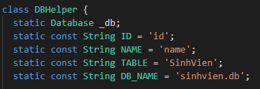 Quan niệm về Database trong Flutter