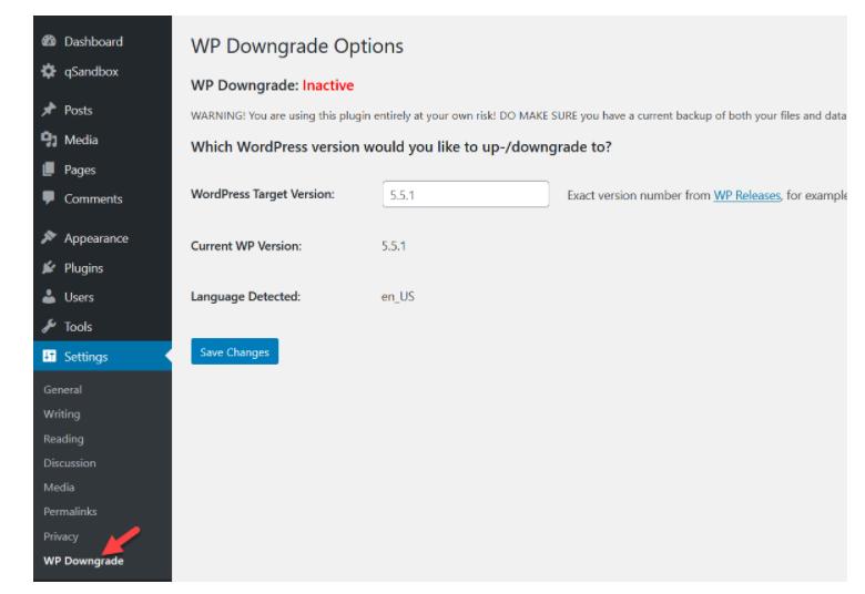 Downgrade wordpress: cách hạ phiên bản wordpress