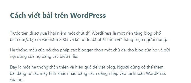Cách viết bài trên WordPress