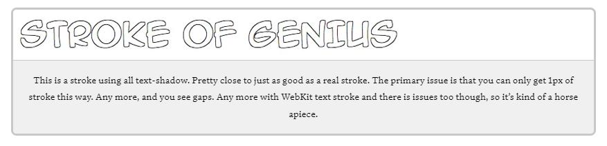 Thêm Stroke vào text trong CSS
